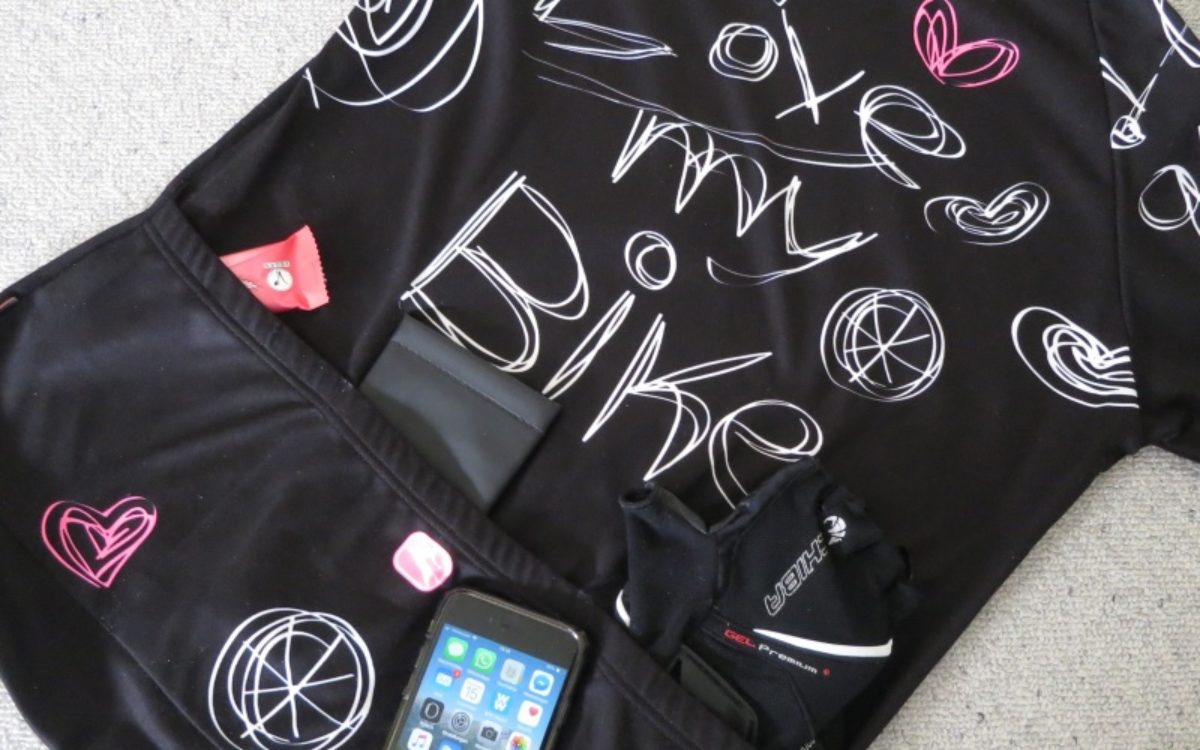 Velo-Shirt mit drei Taschen von Giordana