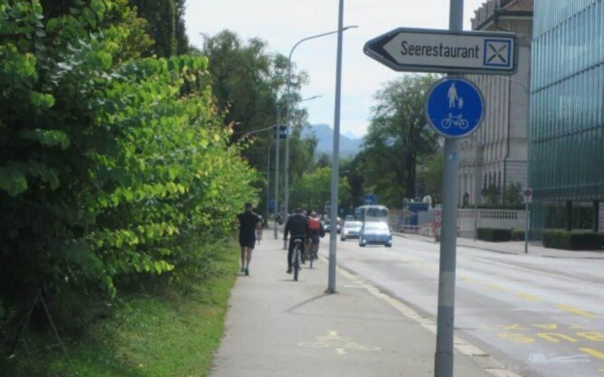 Route Zürich Wollishofen - Tiefenbrunnen