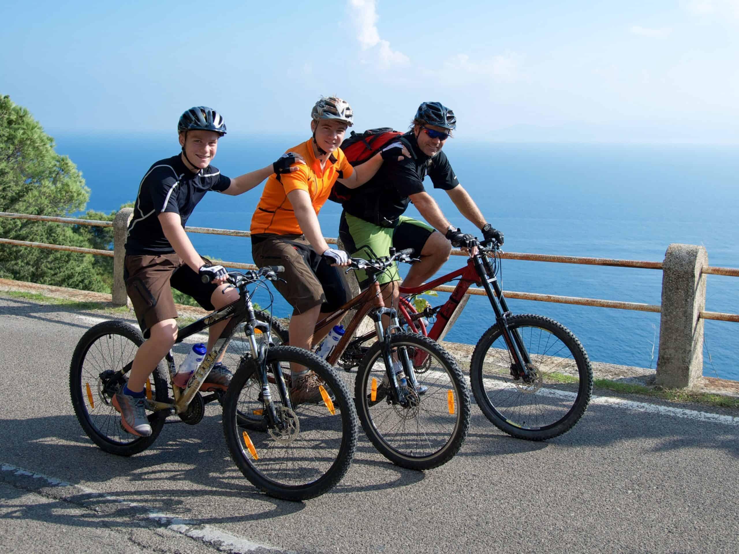 Gruppe Mountainbiker
