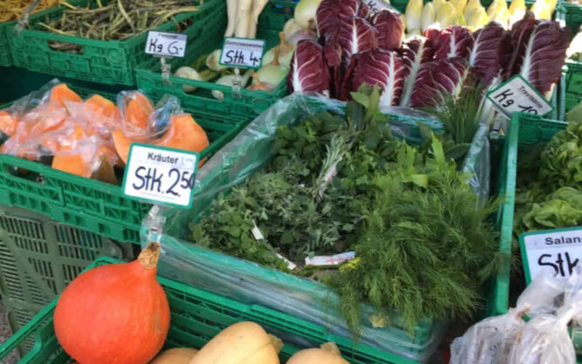 Gesunde Gemüse auf dem Markt